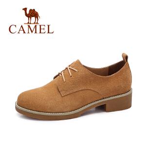 camel/骆驼女鞋 秋季新款 英伦风平跟单鞋女 复古百搭女鞋