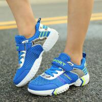 童鞋男童跑步运动鞋儿童网鞋12-15岁大童鞋子