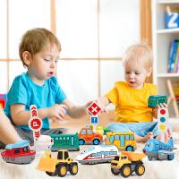 儿童飞机玩具车合金消防车挖掘机套装