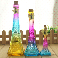 巴黎埃菲尔铁塔木塞许愿瓶玻璃漂流瓶 幸运星瓶瓶子创意