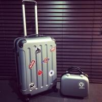 个性拉杆箱男士旅行箱28韩版箱子行李箱男潮24寸学生密码箱皮箱女 子母箱