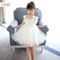 女童夏装连衣裙 2017新款韩版儿童吊带裙蓬蓬裙 宝宝夏公主裙纱裙