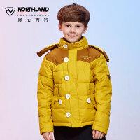 诺诗兰NORTHLAND秋冬户外防风保暖运动棉衣男童防寒服GL045779