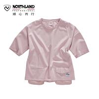 【顺心而行】NU诺诗兰夏季新款户外女式时尚休闲圆领短袖T恤KL072309