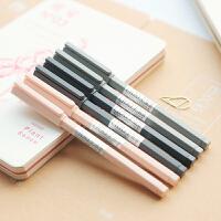 三年二班●简约纯色六棱杆中性笔 全针管黑色签字笔学生水笔0.5mm