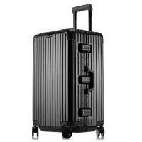 加厚运动版30寸铝框拉杆箱大容量出国旅行托运女行李箱32寸轻男出国拉链箱学生箱子
