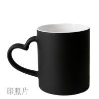 杯子印照片定制加热水会变色显示图片的情侣一对马克创意带盖勺 带盖勺