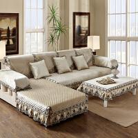 简约现代沙发垫坐垫布艺防滑加厚毛绒沙发套沙发巾罩垫子