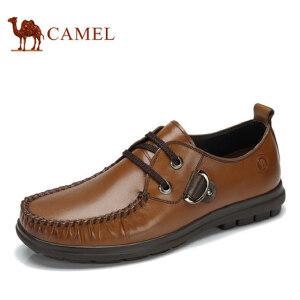 骆驼牌流行男鞋男士休闲鞋英伦透气皮鞋春秋系带潮流男单鞋