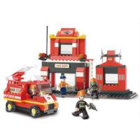 小鲁班拼装玩具 消防 益智积木类模型