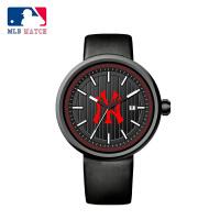 美职棒(MLB)潮流个性男士手表时尚日历防水学生真皮石英表