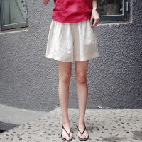 孕妇短裤夏外穿宽松大码棉麻孕妇裤子托腹裤打底裤韩国孕妇装夏装