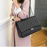 2018新款韩版菱格链条大包包 女包单肩斜挎包小香风时尚旅行包潮 大