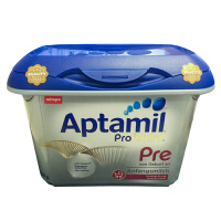 【当当海外购】德国 Aptamil爱他美白金版 PRE段婴儿牛奶粉800g(0-3个月宝宝)宝盒装 完好