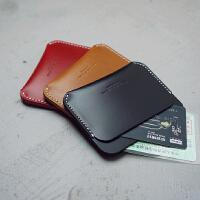 薄驾照夹零钱包男女式卡包卡套名片包 手工皮具 牛皮 零钱夹+名片夹 宝蓝