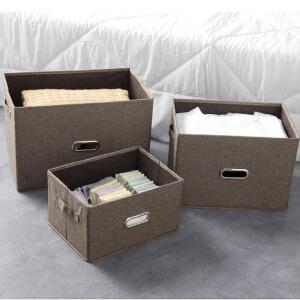 门扉 整理箱 创意无纺布复古风格收纳凳衣服玩具收纳盒家居日用多功能大容量整理储物箱