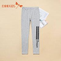 红蜻蜓童装春秋新款个性英文印花图案舒适男童打底裤儿童休闲裤