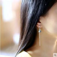 甜美百搭耳饰耳钉耳花流苏耳线韩国时尚气质花朵耳环 女长款耳坠