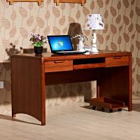 御品工匠 实木书桌 1.4米电脑桌家用写字台桌台 中式橡木实木框架书房利来国际ag手机版0614