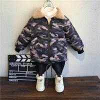 童装男童男孩冬季棉袄儿童宝宝迷彩棉衣