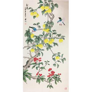 姚桂元《秋实图》著名画家