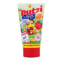 保税区直发 德国Putzi儿童含钙牙膏红色草莓口味 50ml(适合9个月-6岁的儿童)