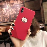 小猪手机壳iphone8/7plus防摔6SPlus半包XR硬情侣批发