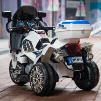 儿童电动车摩托车三轮车大号可坐双驱双电男女宝宝可坐人玩具警车