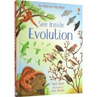 Usborne See Inside Evolution 看里面 STEM 进化论 揭秘系列 幼儿百科早教启蒙 纸板翻翻