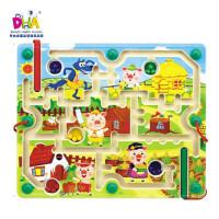 DHA儿童益智玩具 运笔迷宫磁性IQ亲子迷宫 中号迷宫童话迷宫系列