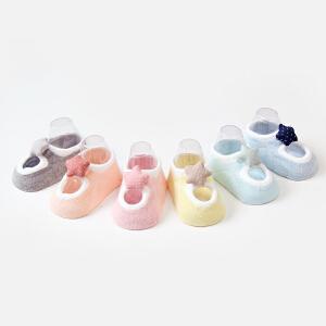 Yinbeler宝宝袜子精梳棉春夏季薄款男女新生婴儿卡通袜春秋0-12个月星星立体礼盒装