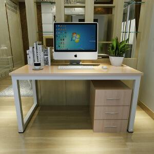 柏易 环保加厚耐磨钢木电脑桌书桌B款 亲子学生小户型易拆装简易书桌办公台办公桌