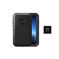 小米MIX尊享版三防手机壳max2保护套mix2s金属防摔全包小米8手 现货 小米mix2 5.99寸 黑色