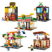 【城市街景 兼容乐高】森宝 迷你街景城市系列拉面店小颗粒拼装积木玩具