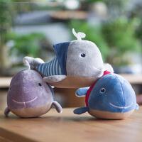 小鲸鱼竹炭包毛绒玩具新汽车家居去除味装饰挂件