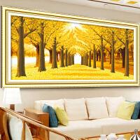 5D钻石画客厅新款满钻黄金满地卧室十字绣钻石绣风景砖石画贴钻画