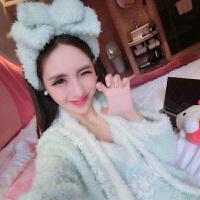 2018新款珊瑚绒睡衣女冬季韩版甜美可爱性感蕾丝公主吊带抹胸家居服三件套 L 体重100-120斤