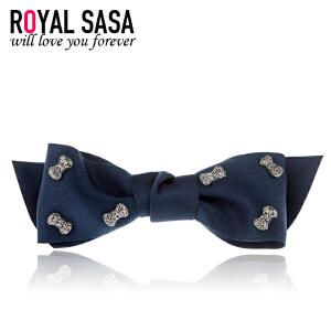 皇家莎莎RoyalSaSa韩国大蝴蝶结发夹手工布艺发饰可爱弹簧夹马尾夹头饰