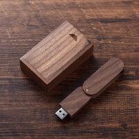 创意实木质u盘32g木制礼物公司个性商务礼品纪念品定制印logo刻字