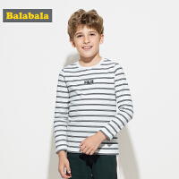 巴拉巴拉童装男童长袖T恤儿童秋装2017新款中大童潮流条纹套头