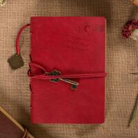 牛皮本 复古旅行日记本创意文艺为你写诗手抄本笔记事本子怀旧牛皮纸