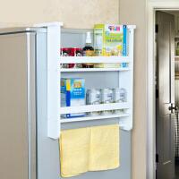 空大二层冰箱侧壁挂架调味架 厨房用品收纳置物架