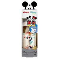 """贝亲Disney""""自然实感""""宽口径PPSU彩绘奶瓶240ml配L奶嘴(米奇米妮-约会)"""