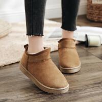 2019冬季新款雪地靴女马丁短靴短筒平底棉鞋学生女鞋女靴子棉靴