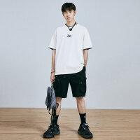 太平鸟男装 2020夏史迪奇系列潮牌T恤打底衫青年时尚韩版短袖体恤
