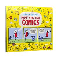 Usborne 原版英文 Big Pads Make Your Own Comics 教你画涂鸦 美术启蒙 儿童英文原