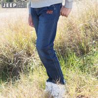 【618大促-每满100减50】Jeep/吉普童装 男女童时尚针织长裤中大童潮流舒适牛仔裤秋新