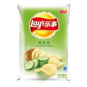 乐事薯片75克/包 黄瓜味 闲食品小吃零食膨化食品下午茶小吃