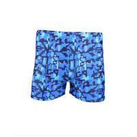 男士泳裤 短裤游泳裤 成人有特大码 加肥 蓝色经典平角泳裤