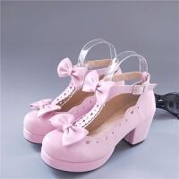 洛丽塔鞋子女学生可爱软妹高跟圆头ita鞋日系百搭cos公主鞋